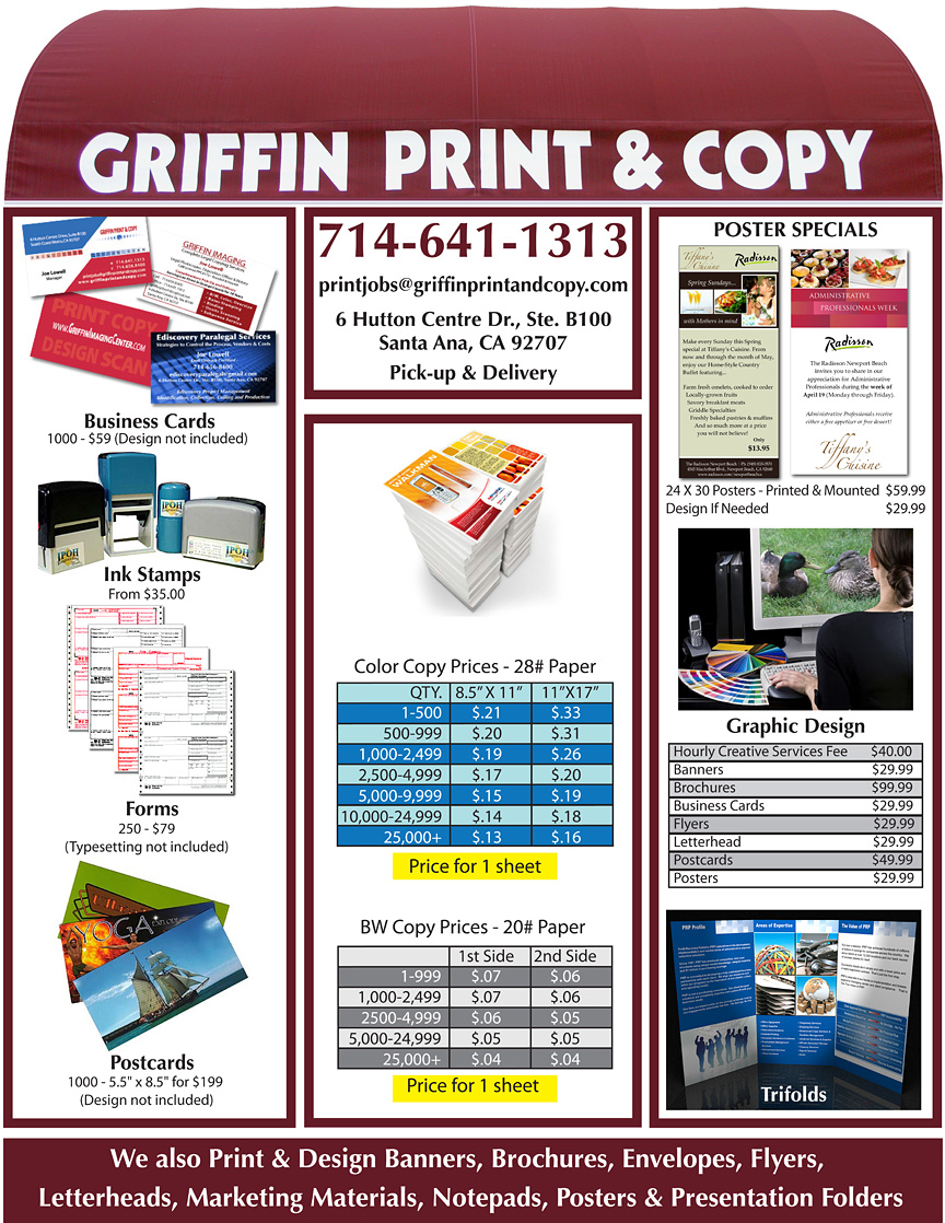 Griffin Print and Copy Flyer